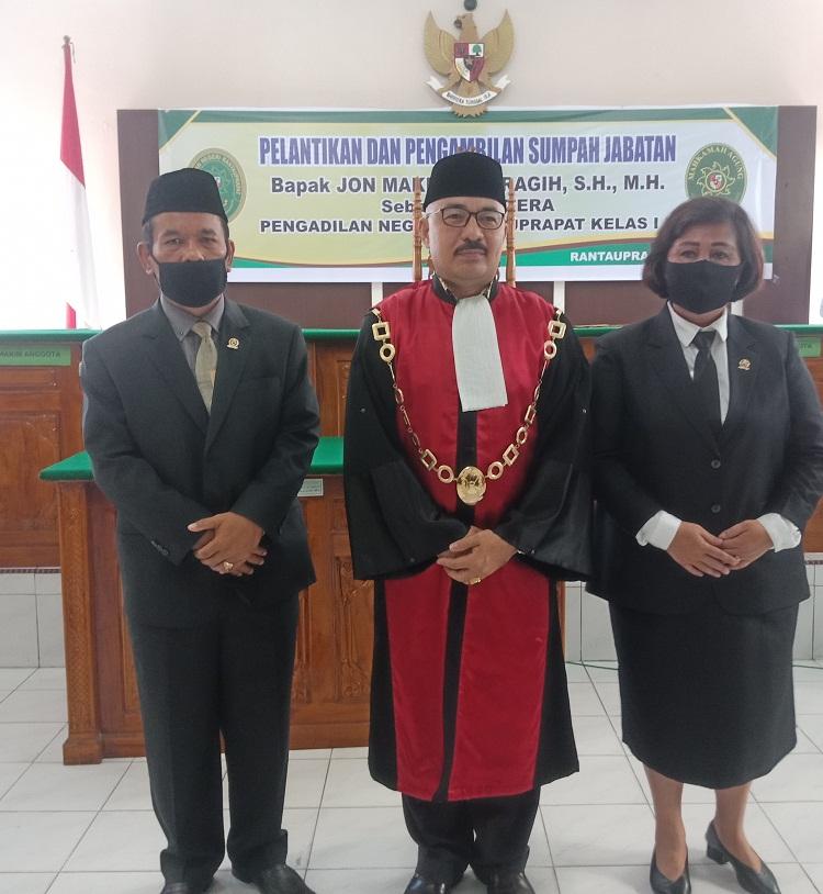 PELANTIKAN DAN PENGAMBILAN SUMPAH JABATAN Bapak JON MAKMUR SARAGIH  SH.MH